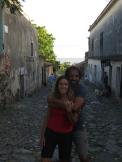 Foto en la calle de los Suspiros, la más conocida del pueblo.