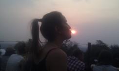 2013 - Beso al sol. Atardece en Angkor Wat.
