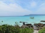 Hasta casi las 12:00 pm no llegaban los turistas, así que teníamos la playa para nosotros!