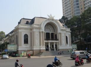 Vistas al teatro municipal de Ho Chi Minh City.
