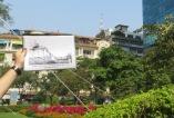 Pasado y presente en una misma foto. Aquí podéis ver el lugar desde donde se hizo la evacuación en helicóptero del personal de la CIA el día previo a la caída de Saigon.