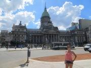 Empezamos el segundo free walking tour en el Congreso Nacional, de la mano de Maru