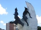 El Quijote y Rocinante, también en Argentina