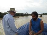 Foto con Peter. Como fuimos de los primeros en llegar a cubierta, pudimos coger la delantera y situarnos en primera linea ;)
