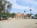 Puerta de acceso a Killing Fields, el lugar de ejecución en masa más próximo a Phnom Penh.
