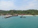 A punto de atracar en Koh Tui Village