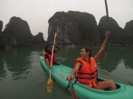 Poco después estábamos disfrutando del kayak en la zona de Luon Cave. Espectacular!