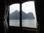 Desde la cama del barco podías contemplar esta maravilla. Os imaginais despertar con estas vistas?