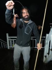 Bueno, y aquí el crack que pescó la única sepia que debía de haber en el mar!
