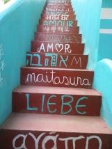 Las escaleras de la guesthouse <3