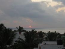 Teníamos nuestras dudas de si veríamos salir el sol, y vaya si lo vimos!