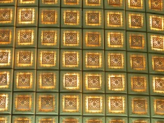O estos detalles de una de las paredes. Estos me encantaron!