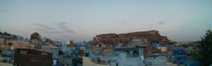 Sin duda, lo mejor del hostel. Las vistas de la ciudad antigua y del fuerte de Jodhpur