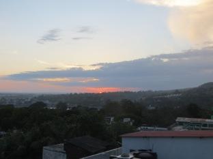 Las puestas de sol eran preciosas, lástima que prácticamente todos los días estábamos en la clase práctica vespertina