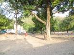 Partida de cricket vespertina en el pueblo