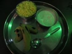 Dieta recomendada: curd yogurt & banana :S Nos vamos camino del Taj Majal!