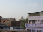 Así se veía el Taj Mahal desde una de las terrazas de nuestro hotel