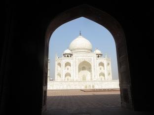 Una bonita imagen del Taj Mahal