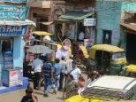 """Pero tocaba desayunar... con estas vistas a la """"preciosa"""" ciudad de Agra :P"""